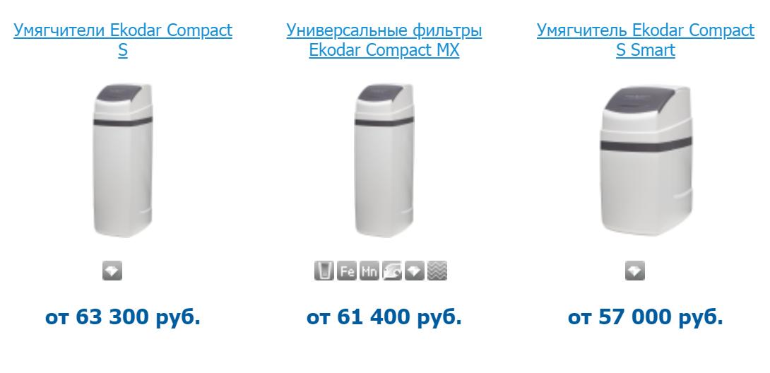 Примеры стоимости разных систем водоочистки длязагородного дома