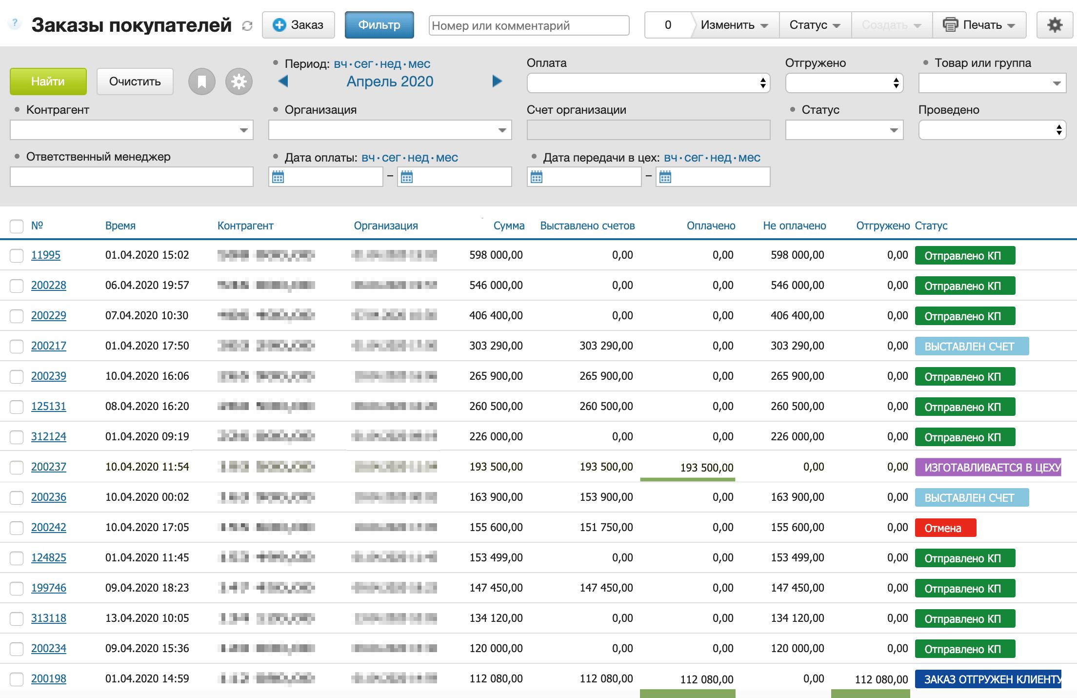 CRM показывает в реальном времени, как у нас дела и что нужно сделать. Продавцы выставляют счет из CRM, им не нужно обращаться к бухгалтеру или ехать в офис. Снабжение видит оплаченные заказы и закупает подних материалы, тамже выставляет счета поставщикам, а бухгалтер их оплачивает. Информация об оплатах ежедневно синхронизируется с банком