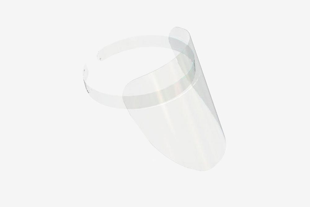 Маска длязащиты, сделана изпрозрачного пластика толщиной 0,5мм