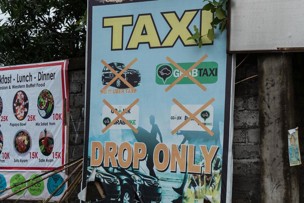 Вместо того чтобы развивать свой сервис, балийцы пытаются бойкотировать конкурентов