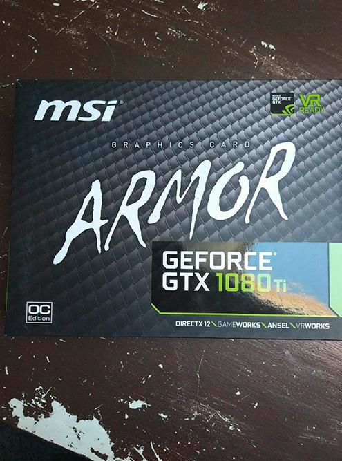 Новенькая видеокарта MSI GeForce GTX 1080 Ti 1531MHz Armor OC стоила бы мне 59 тысяч рублей