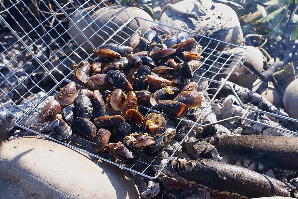 Весной мы устраиваем пикники на диких пляжах и готовим мидий на углях. Купить можно в сервисе доставки «Море на дом»