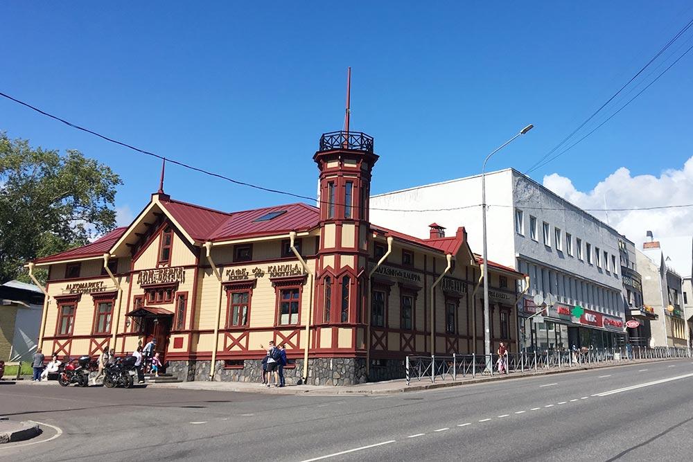 Дом Берга— яркий ориентир центральной части города, где много архитектурных памятников