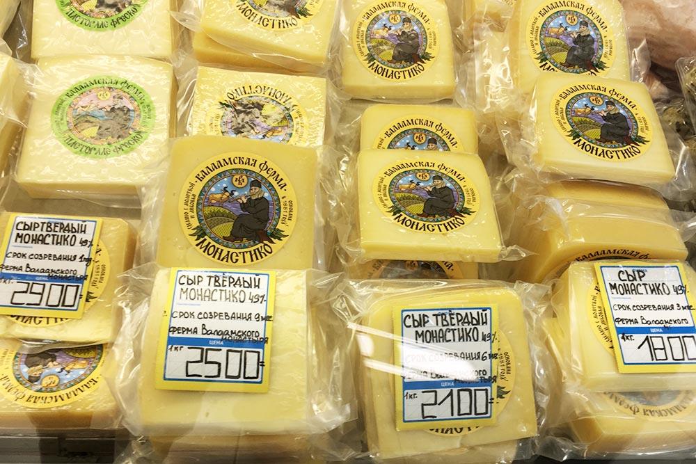 Валаамские сыры— неединственные, что делают вКарелии. Еще есть ладвинские сыры, продаются вкафе вдоме Берга