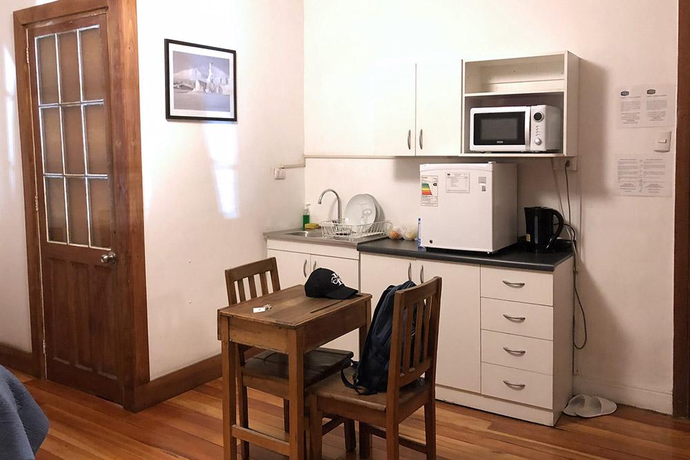 В Сантьяго в номере была мини-кухня и небольшая посудомоечная машина