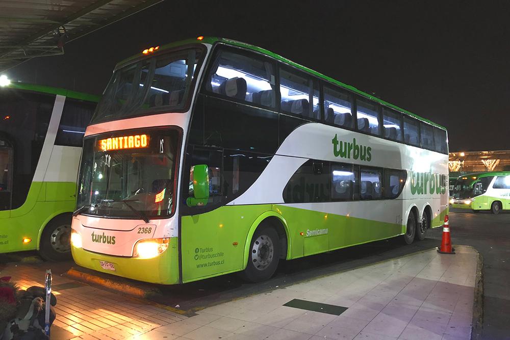 Автобусы «ТурБас» ходят по маршруту Сантьяго — Вальпараисо каждые 20 минут