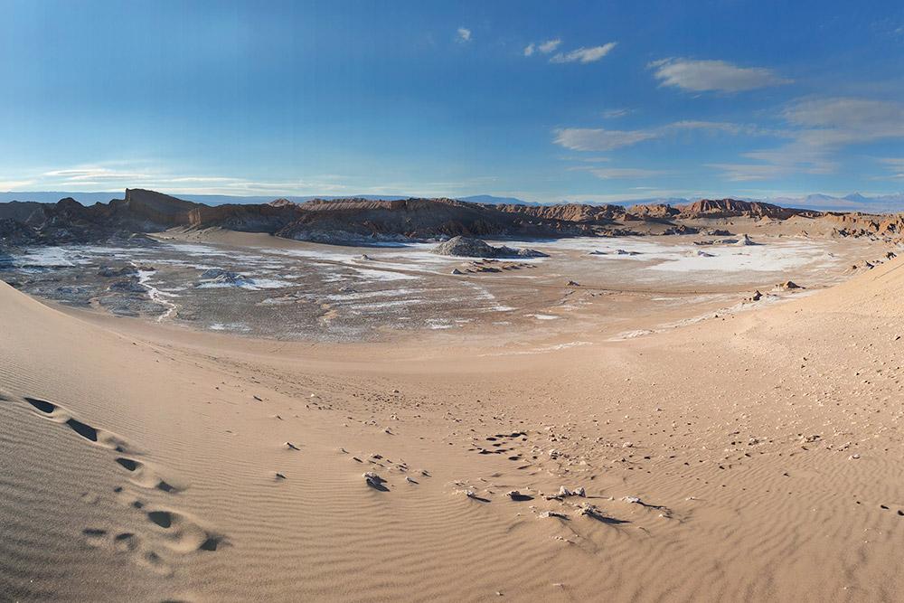 Вид с бархана пустыни Атакама