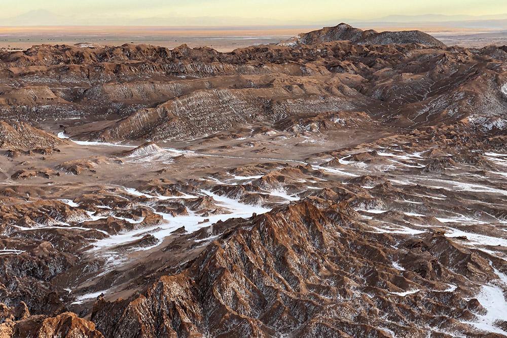 Лунная долина в пустыне Атакама