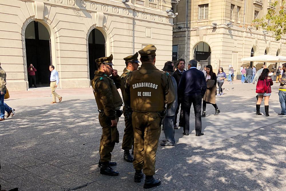 Карабинеры — одно из подразделений чилийской полиции. Встречаются часто, особенно в туристических местах