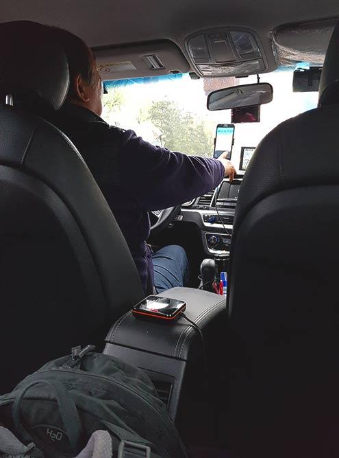 Считыватель для карты T-Money в такси