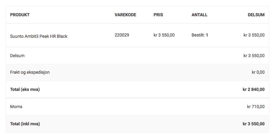 Однажды я покупала в норвежском интернет-магазине часы «Суунто». Когда указала свой индекс на Шпицбергене, НДС автоматически вычли из цены. Вместо 3550 крон я заплатила 2840