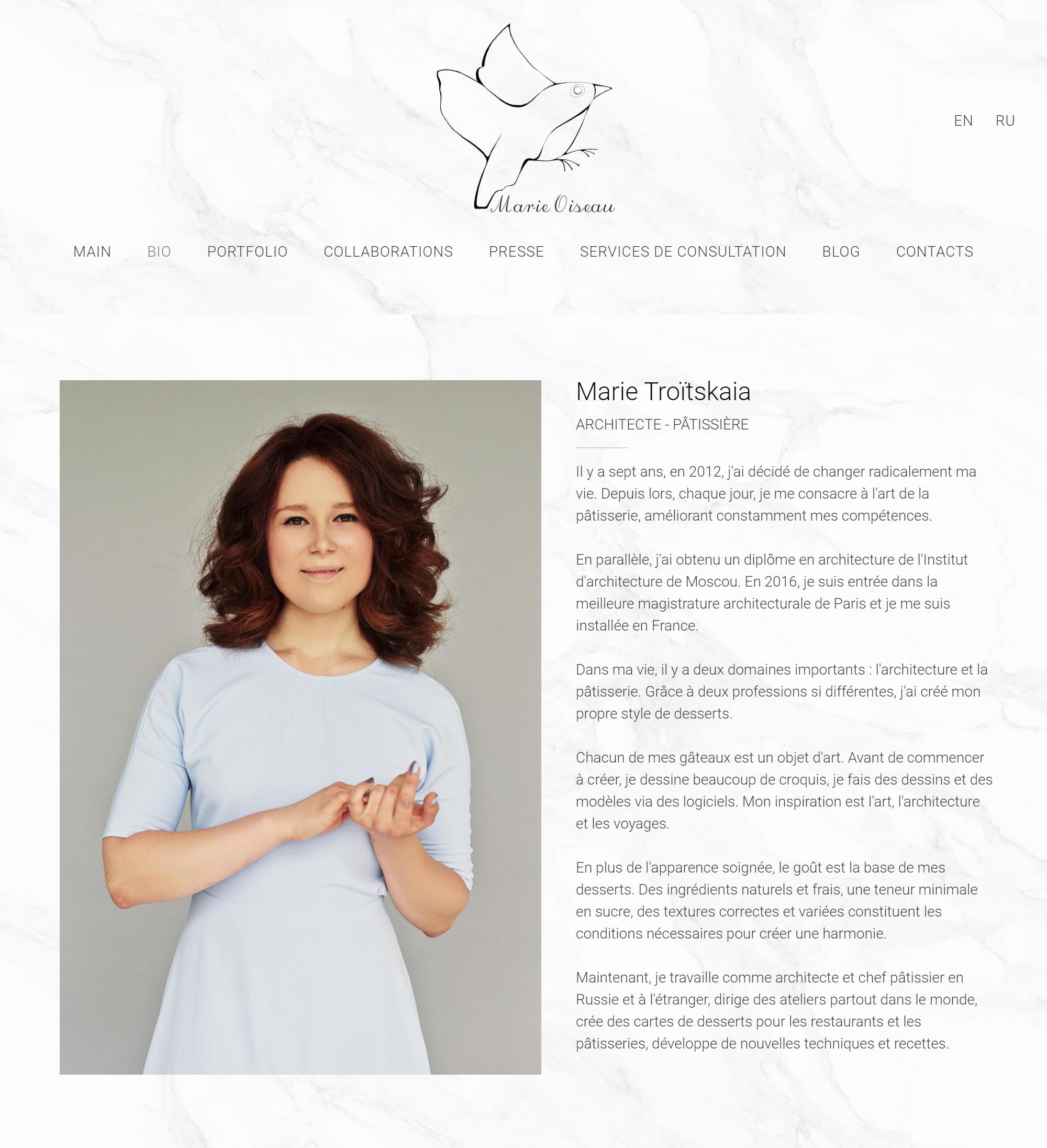 Мой сайт нафранцузском языке