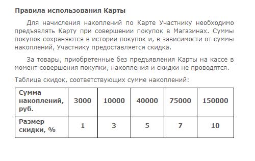 В магазине «Домострой» моя скидка — 3%. Когда сумма покупок станет больше 40 000<span class=ruble>Р</span>, постоянная скидка увеличится до 5%