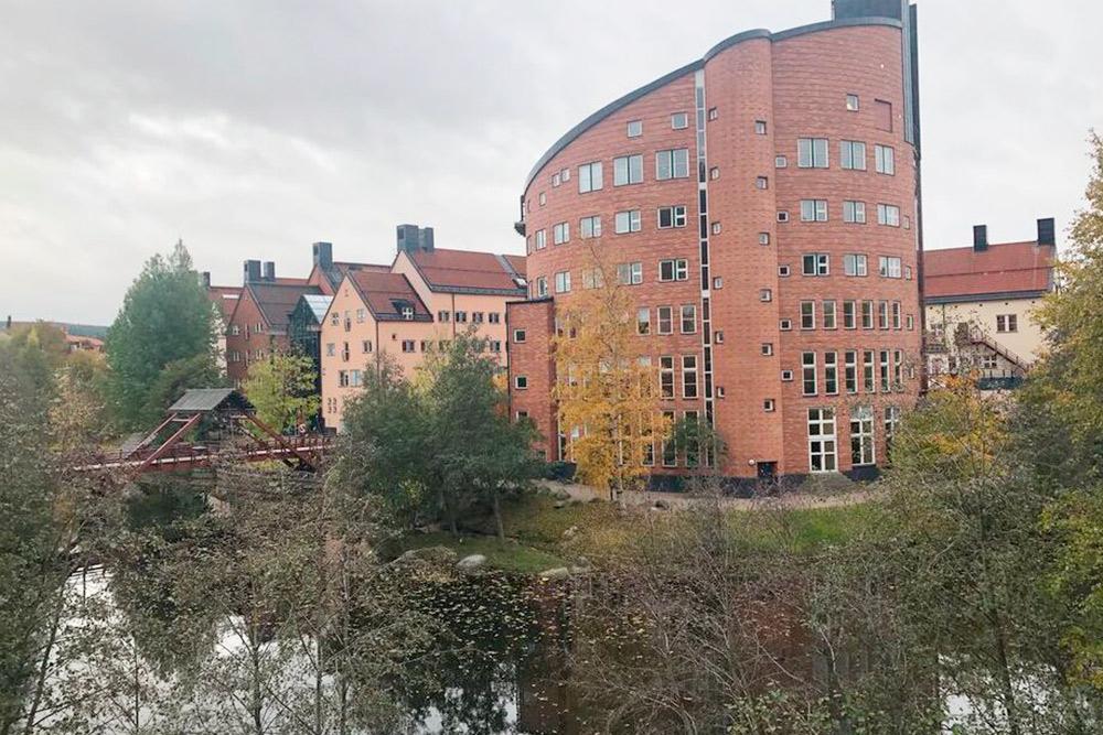 Так выглядит здание библиотеки в Mid Sweden University