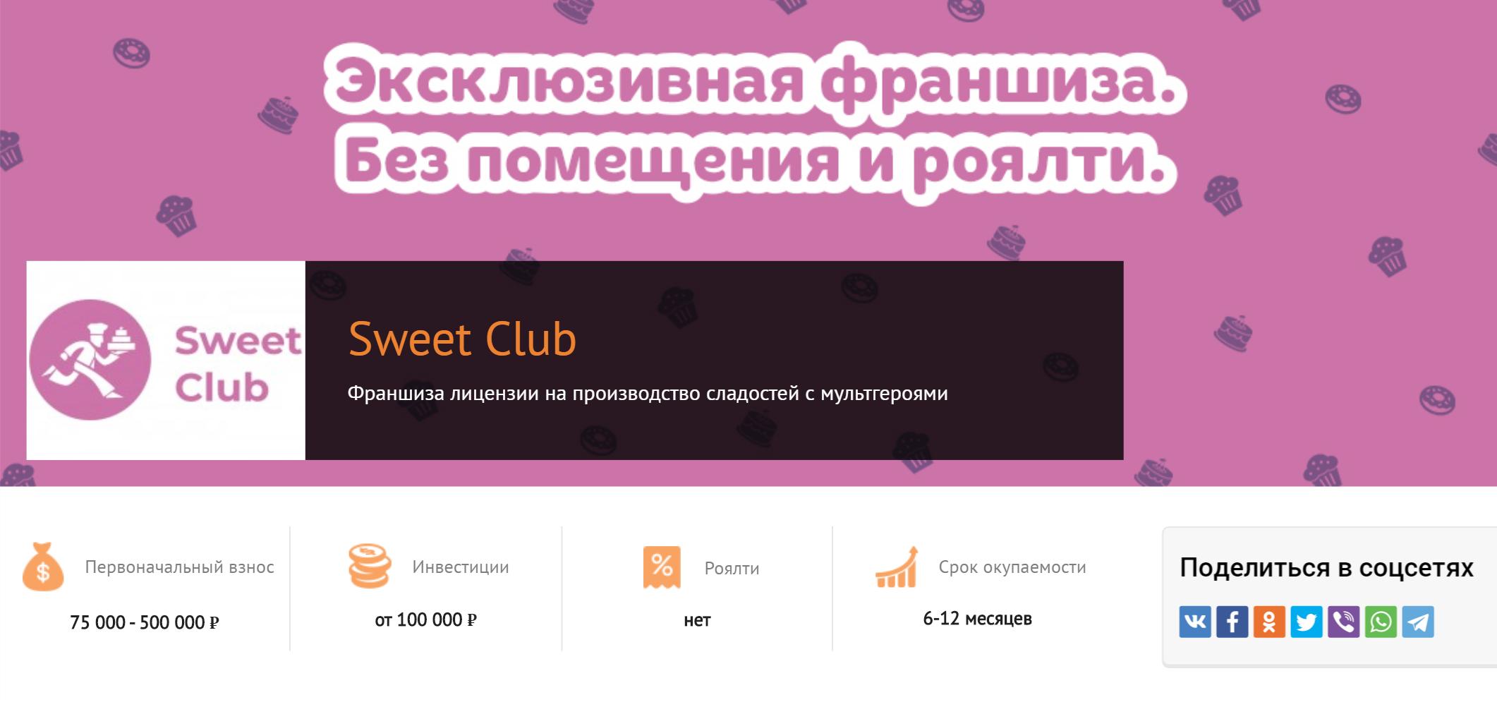 Предложение для франчайзи на сайте «Франшиза-ру». Первую франшизу запустили через три недели после размещения презентации