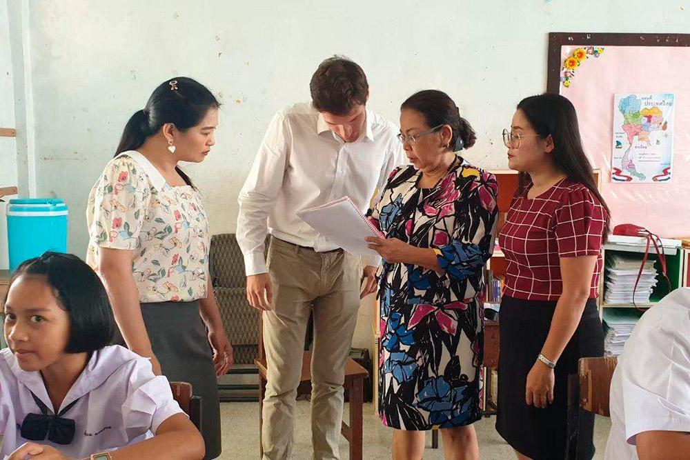 Вот так выглядит преподавание втайских классах