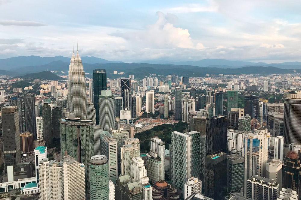 Панорама Куала-Лумпура — столицы Малайзии