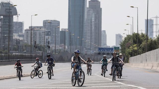 Пустые улицы во время Йом-Киппура. Источник: ynet.co.il