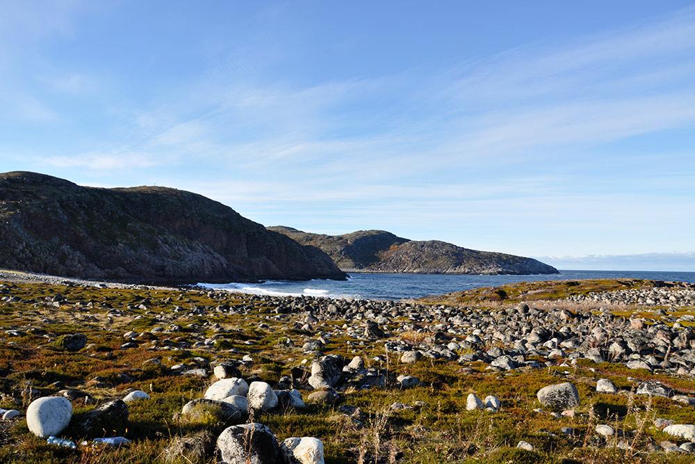 Типичные пейзажи на побережье Кольского полуострова