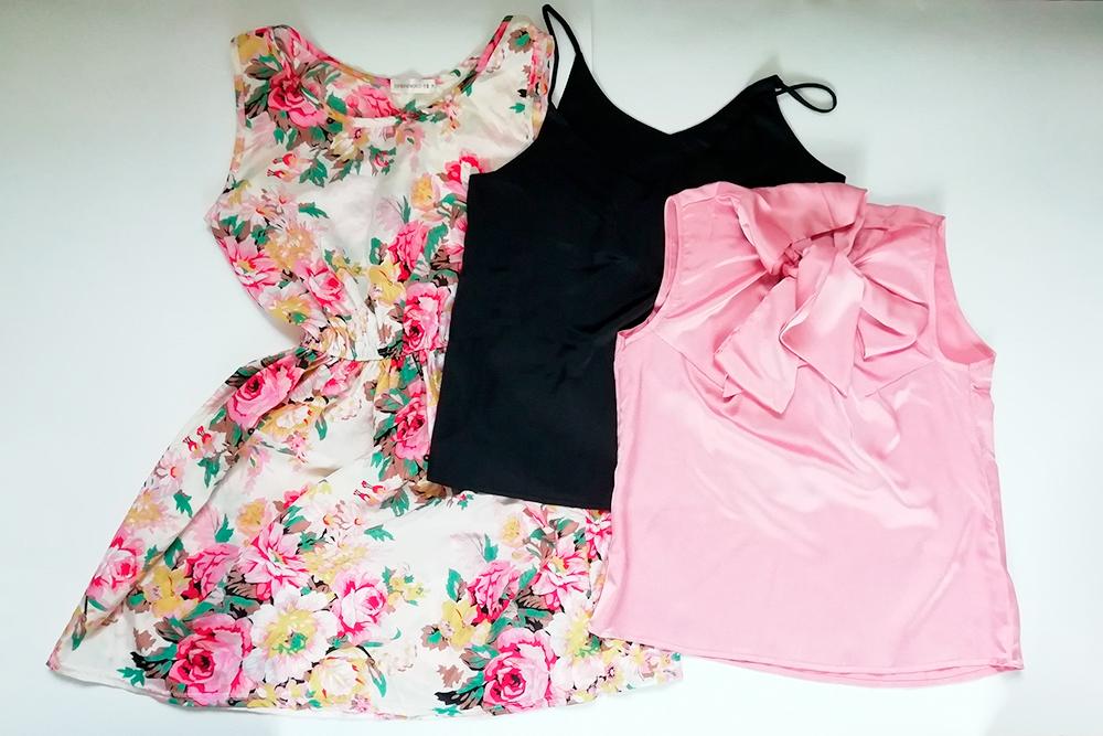 Всю одежду из полиэстера, купленную у непроверенных продавцов, пришлось выкинуть. За эти две блузки и платье я заплатила чуть больше тысячи рублей