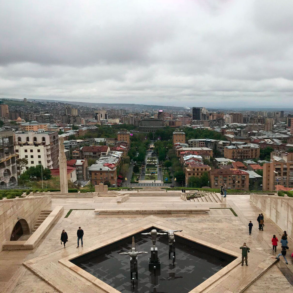 Вид на Ереван с террасы Каскада