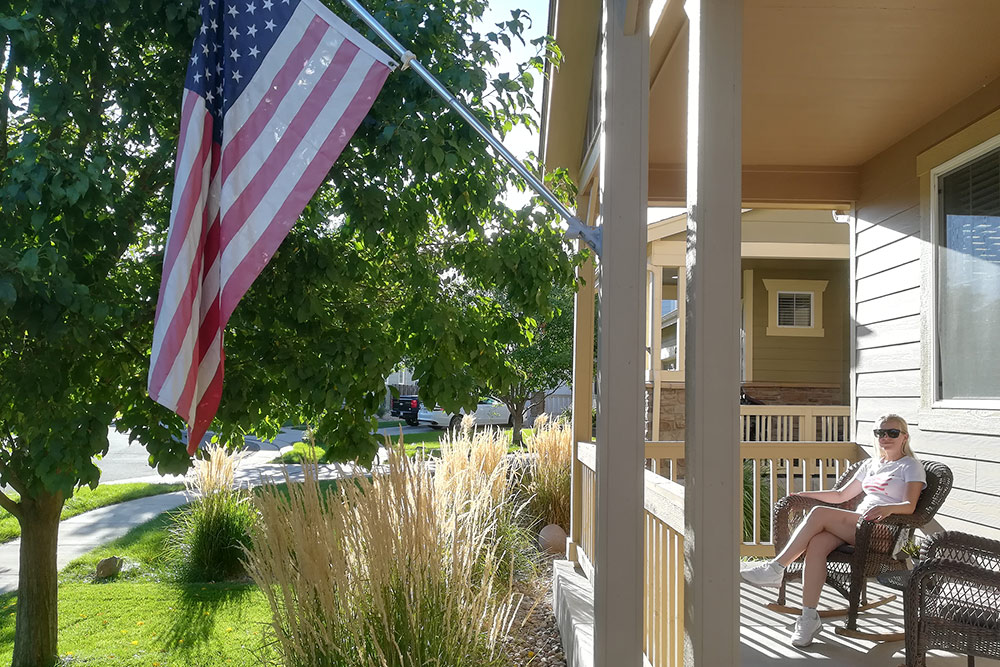 В Денвере мы жили в типичном американском доме