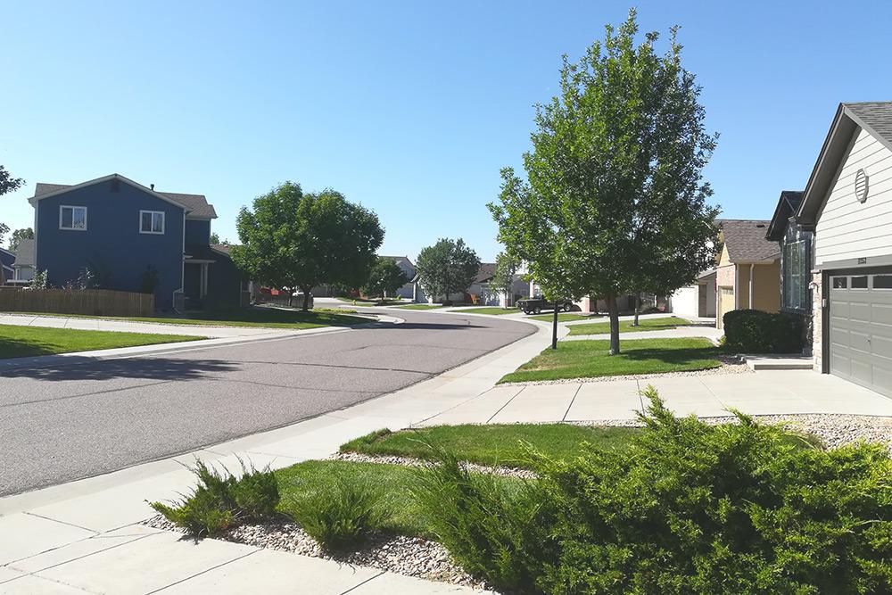 Улица, на которой живут наши друзья в пригороде Денвера
