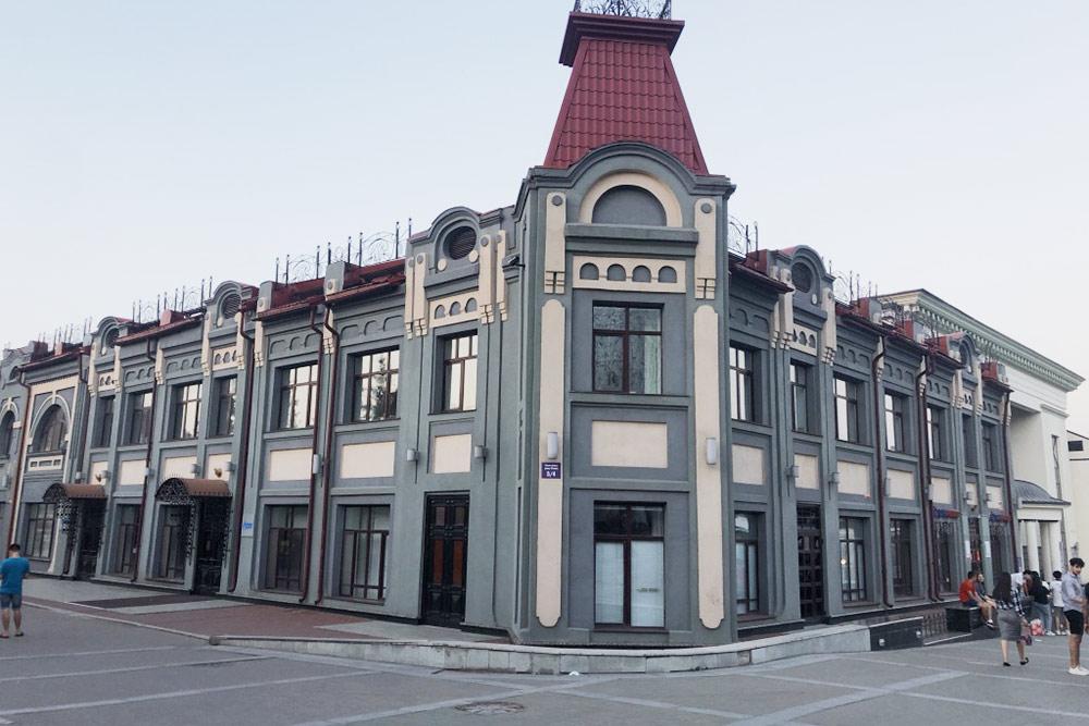 Одно изсамых фотогеничных зданий Уфы— Торговый дом Иванова иНобеля. Его построили в1912году