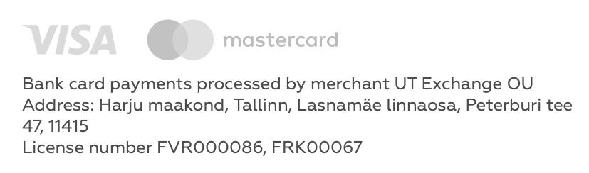 На своем сайте «Юнайтед-трейдерс» пишет, что платежи обрабатывает эстонская компания, и приводит номера лицензий