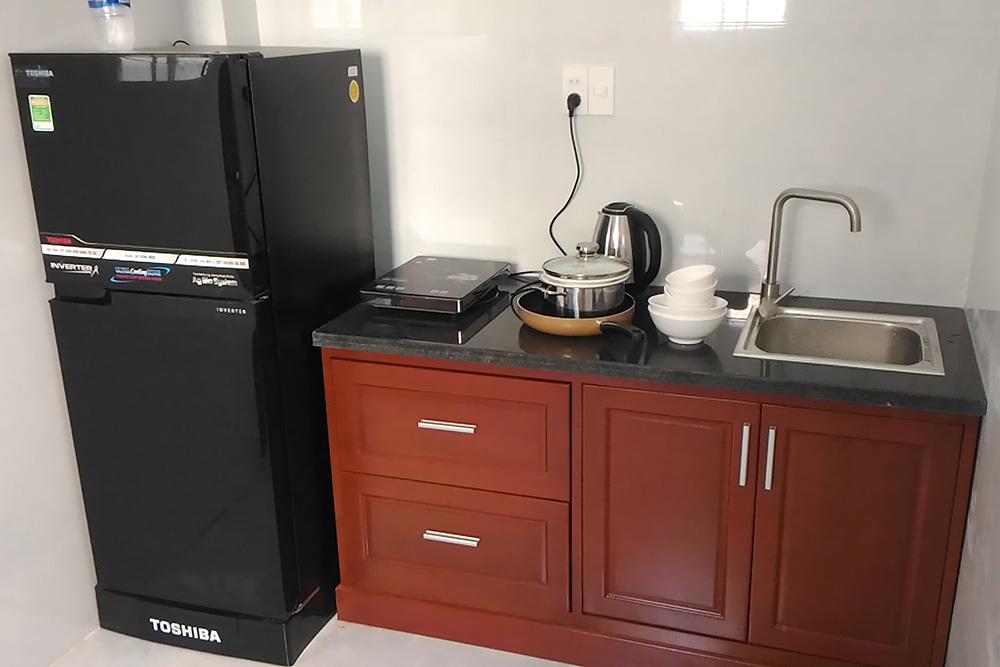 Кухня маленькая, но для редкой готовки подойдет