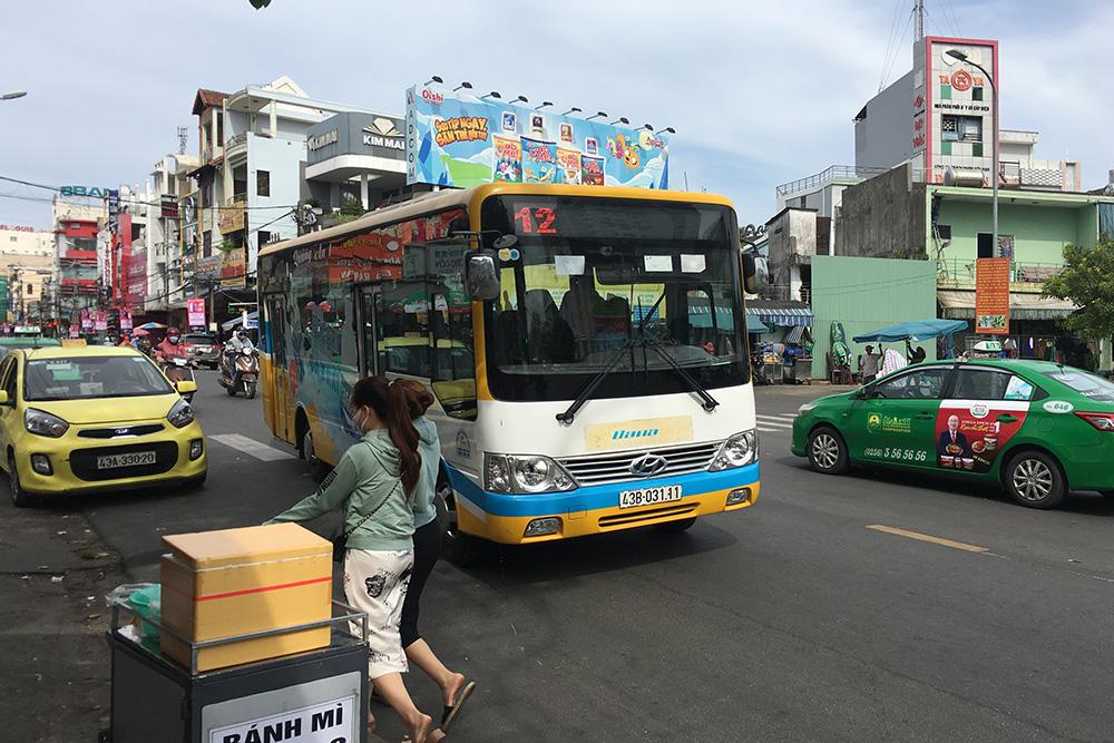 Так выглядят городские автобусы Дананга