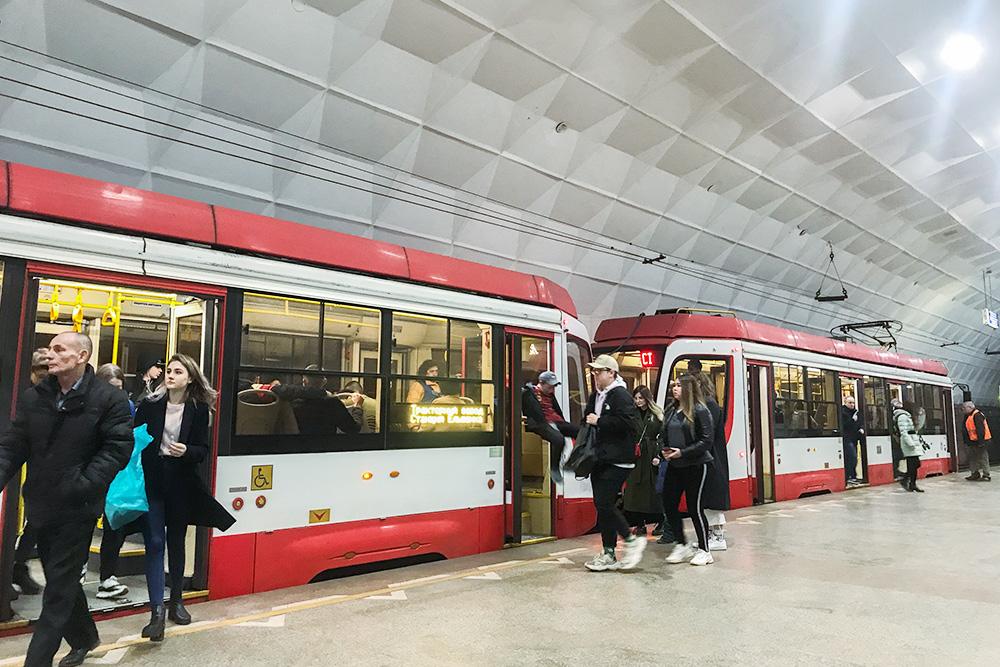 Так выглядит трамвай вволгоградском метро