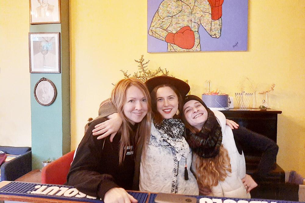 Я с двумя Александрами из Сан-Франциско и Тель-Авива