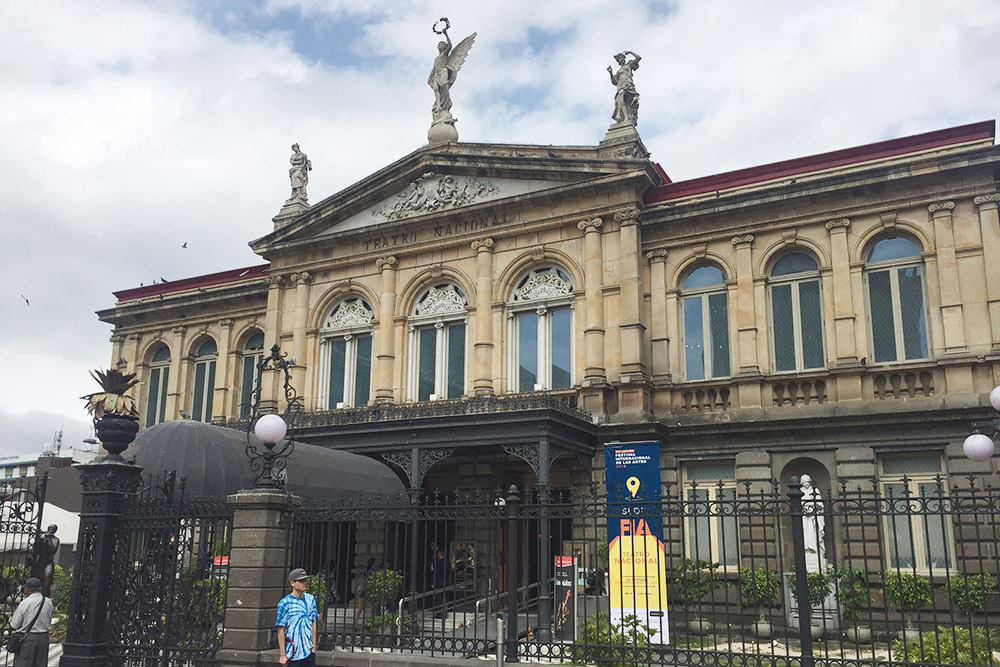 Национальный театр Коста-Рики построен по образцу парижской оперы. Здание включено в список объектов наследия Юнеско