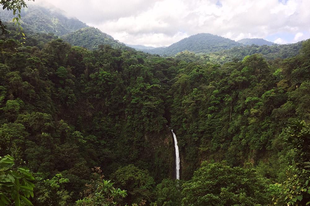 Вид на водопад Ла-Фортуна со смотровой площадки