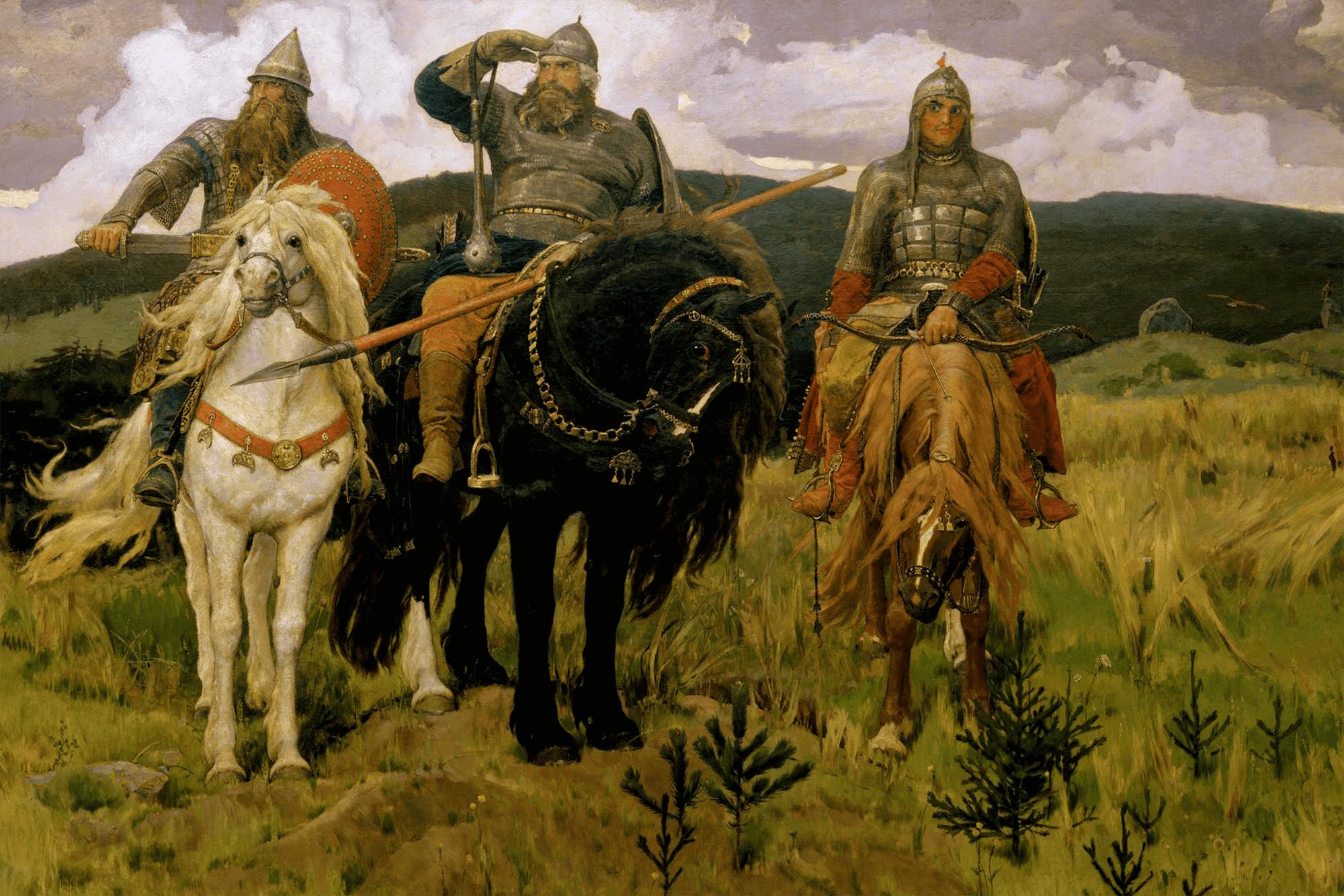 Картина Васнецова «Три богатыря» на онлайн-выставке