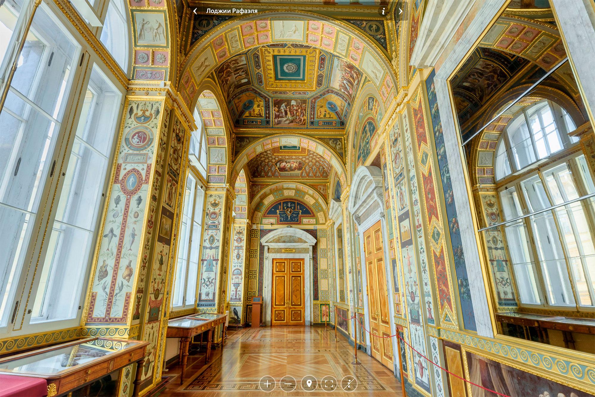 Когда будете прогуливаться по музею, советую рассмотреть интерьеры залов, например Лоджии Рафаэля