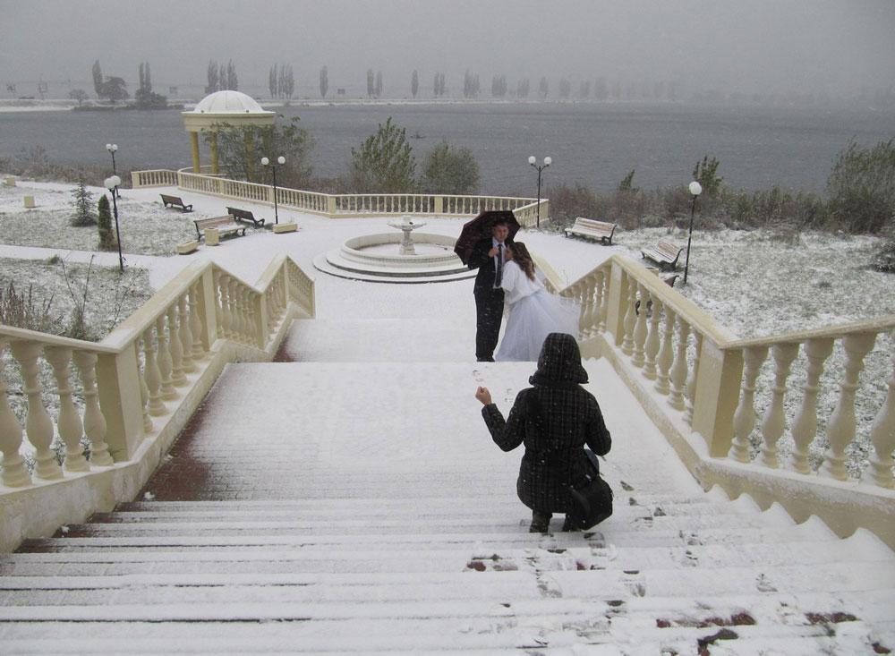 Бэкстейдж с зимней съемки в метель
