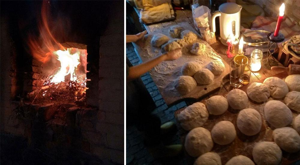 Воркшоп по выпечке оказался больше праздником, чем работой. Было много гостей, самодельной пиццы, свежего хлеба и пирогов из печи