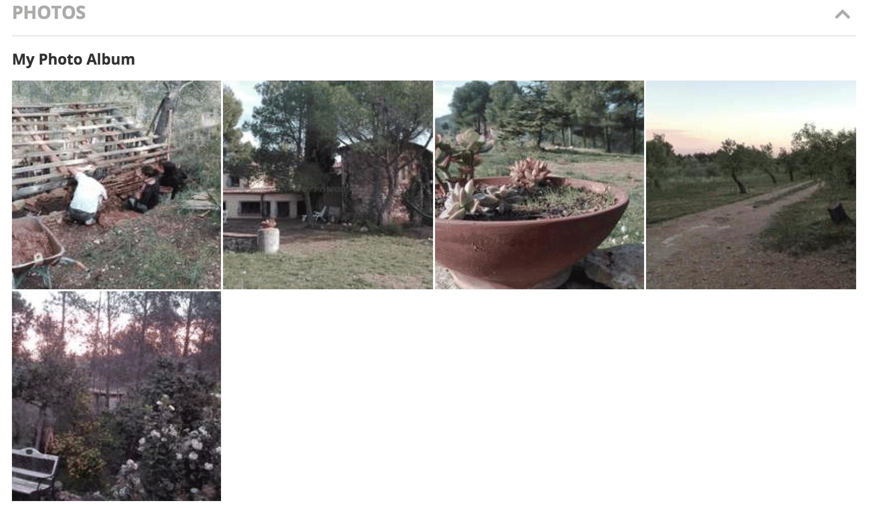 Фотографии в аккаунте нашего второго проекта