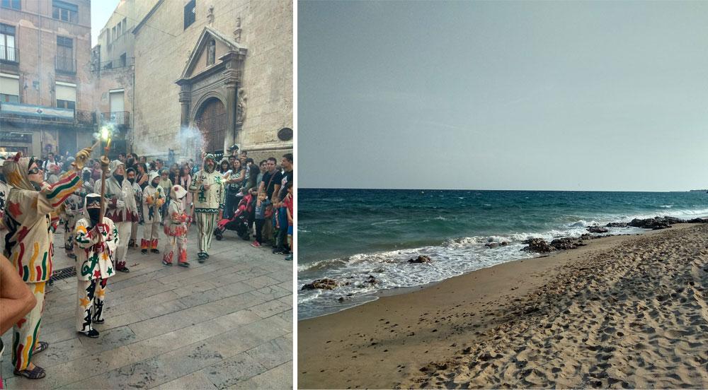 В Испании после работы ездили на море или в соседние города. В одну из таких поездок случайно наткнулись на карнавал