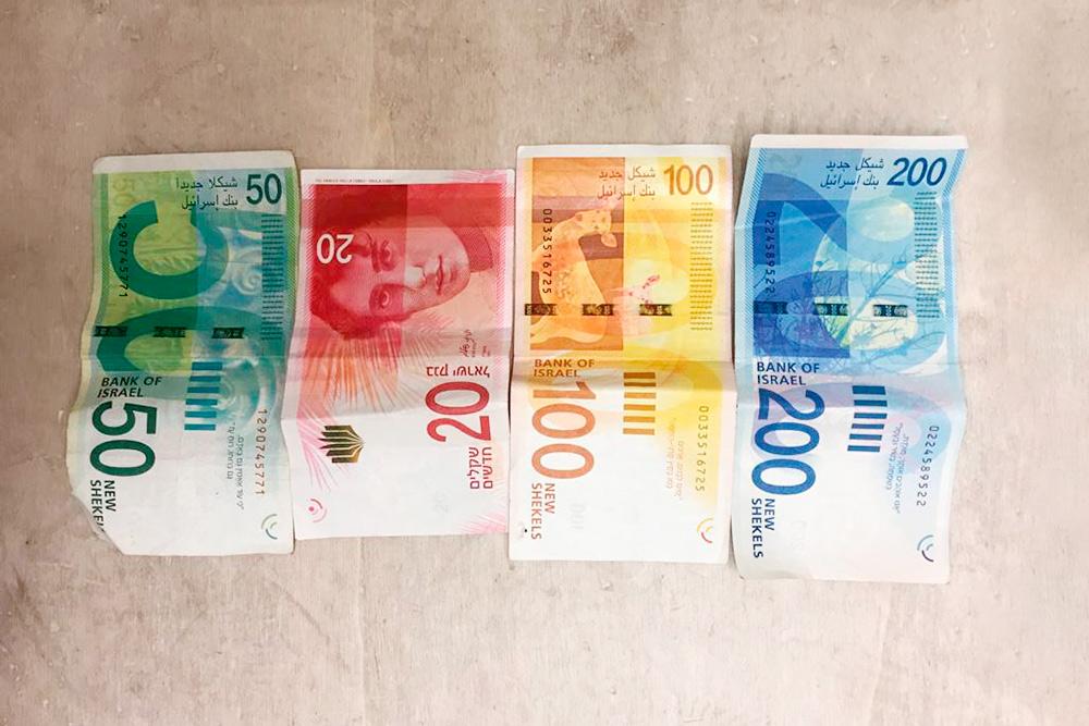 Так выглядят шекели, государственная валюта Израиля