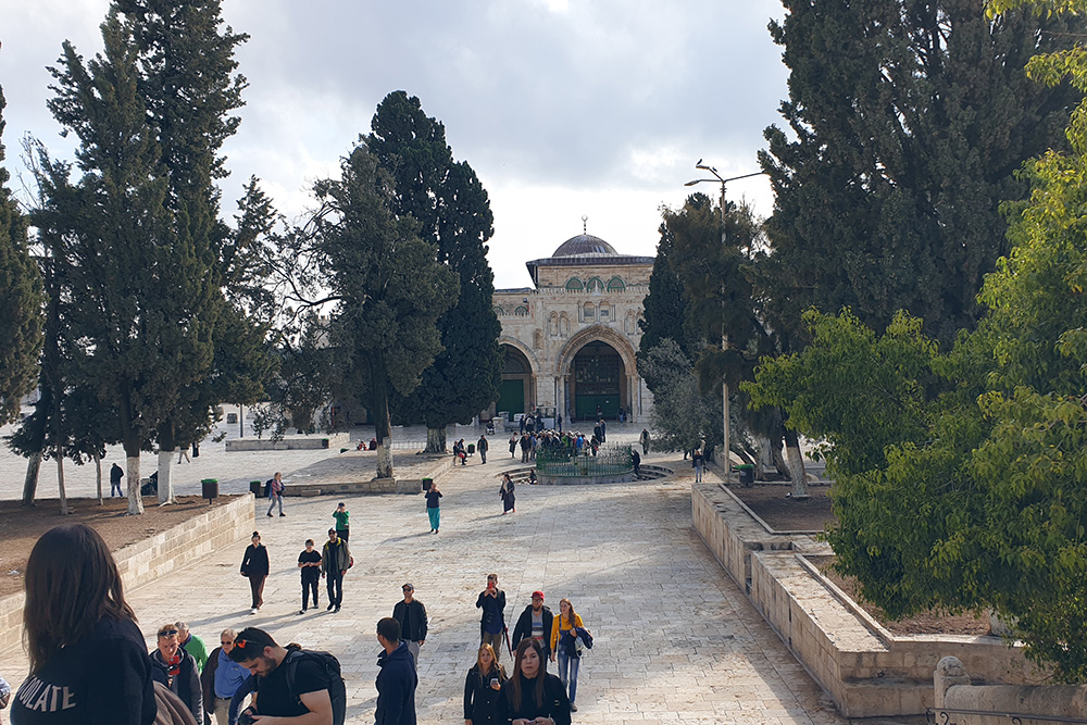 Нам повезло попасть на Храмовую гору в Иерусалиме. Это одно из важнейших мест дляхристиан, мусульман и иудеев: по легенде, именно здесь бог сотворил человека. Фото: Даниил Куваев