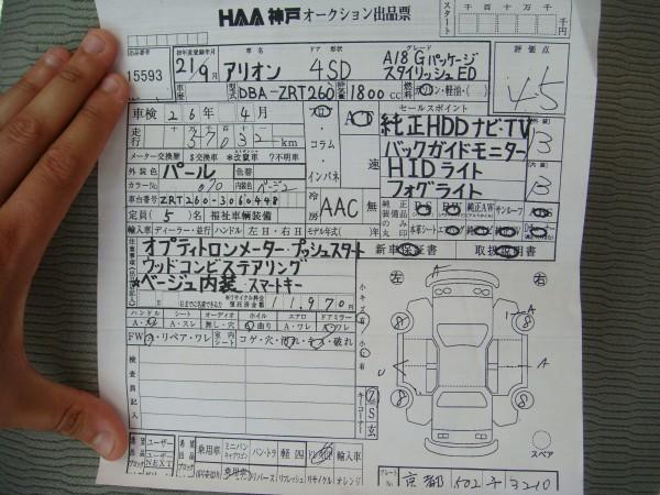 Вот так выглядит аукционный лист на японском автомобильном аукционе. Фото: Виталий Морозов